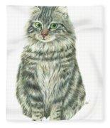 A Furry Cat  Fleece Blanket