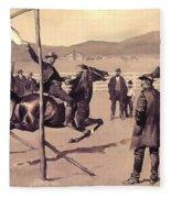 A Gander Pull 1894 Fleece Blanket