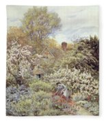 A Garden In Spring Fleece Blanket