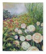 A Garden Romance Fleece Blanket