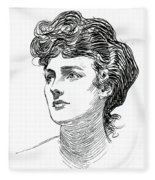 A Gibson Girl By Charles Dana Gibson Fleece Blanket