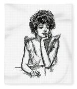 A Gibson Girl Posing Fleece Blanket