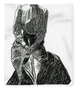 A Gibson Girl With Parasol Fleece Blanket