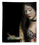 A Girl With A Dragon Tattoo Fleece Blanket