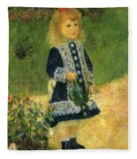 A Girl With A Watering Can 1876 Fleece Blanket