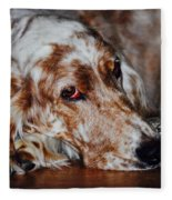 A Girl's Best Friend Fleece Blanket