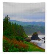 A Glimpse Of Oregon Fleece Blanket
