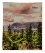 A Glimpse Of The Mountains Fleece Blanket