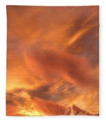 A Glorious Evening Sky Fleece Blanket