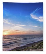 A Glorious Sunset At North Ponto, Carlsbad State Beach Fleece Blanket