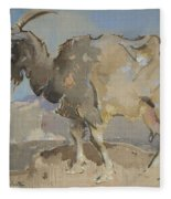 A Goat By Joseph Crawhall 1861-1913 Fleece Blanket