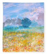A Golden Afternoon Fleece Blanket