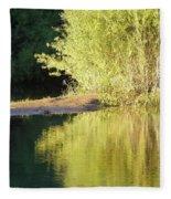 A Golden Reflection Fleece Blanket