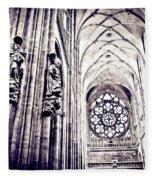 A Gothic Church Fleece Blanket