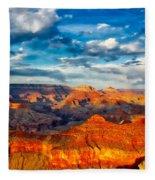 A Grand Canyon Sunset Fleece Blanket
