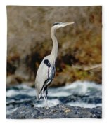 A Great Blue Heron At The Spokane River 2 Fleece Blanket