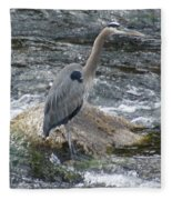 A Great Blue Heron At The Spokane River 3 Fleece Blanket