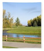 A Great Day For Golf Fleece Blanket