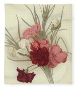 A Group Of Clove Carnations Fleece Blanket