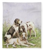 A Group Of French Hounds Fleece Blanket