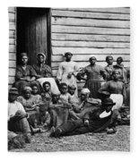 A Group Of Slaves Fleece Blanket