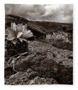 A Hard Existence - Sepia Fleece Blanket