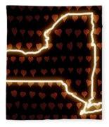 A Heart In New York Fleece Blanket