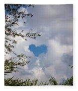A Heart In The Sky Fleece Blanket
