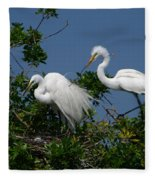 A Helping Beak Fleece Blanket