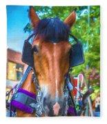 A Horse Of Course Fleece Blanket