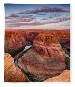 A Horseshoe Bend Morning  Fleece Blanket