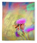 A Hoverfly On Abstract #h3 Fleece Blanket