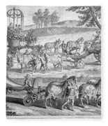 Chariot Of Apollo Fleece Blanket