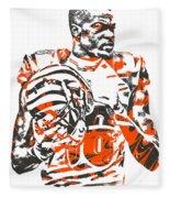 A J Green Cincinnati Bengals Pixel Art 5 Fleece Blanket