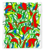 A Jungle Out There Fleece Blanket