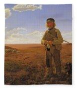 A Jutland Sheperd On The Moors Fleece Blanket