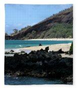 A L O H A  E Ala E Puu Olai Oneloa Big Beach Makena Maui Hawaii Fleece Blanket
