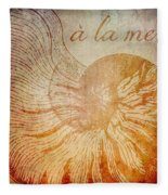A La Mer Nautilus Fleece Blanket