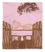 A Lake Murray Sc Sketch Fleece Blanket