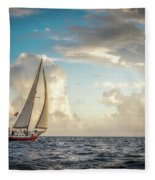 A Life At Sea Fleece Blanket