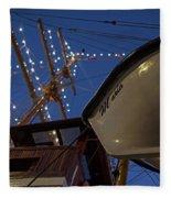 A Lifeboat Named Maria Boston Tall Ships 2017 Lighted Mast Boston Ma Fleece Blanket