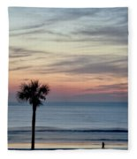 Daytona Beach Sunrise Fleece Blanket