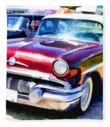 A Line Of Classic Antique Cars 9 Fleece Blanket