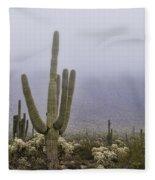 A Little Desert Fog  Fleece Blanket