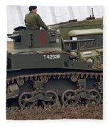 A Little Honey - M3 Stewart Light Tank Fleece Blanket