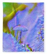 A Little Mushroom  Fleece Blanket