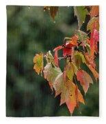 A Little Rain Must Fall Fleece Blanket
