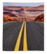 A Long Journey Fleece Blanket by Rick Furmanek
