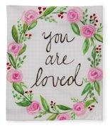 A Love Note Fleece Blanket