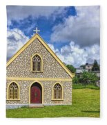 A Lovely Jamaican Church Fleece Blanket